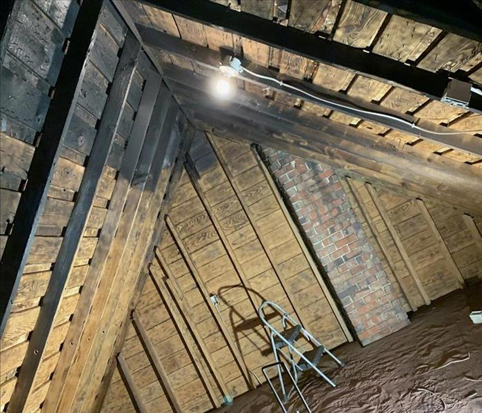 Attic Ceiling without Smoke Damage
