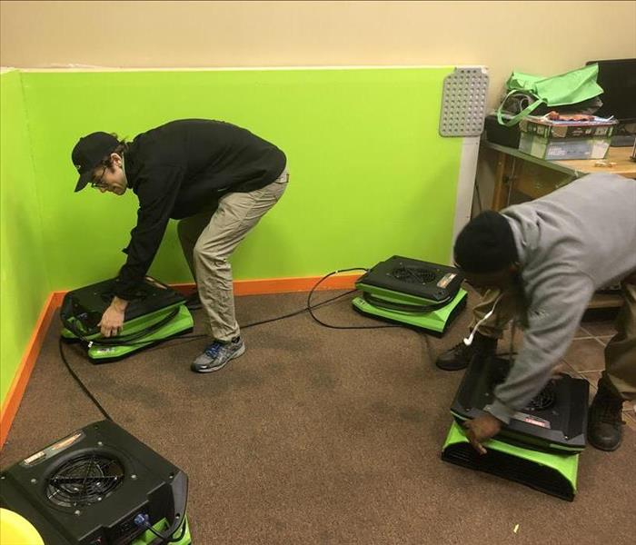 SERVPRO technicians and crew chiefs during training exercise