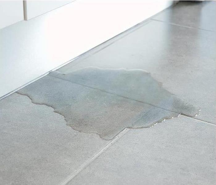 Leaking water on the floor of a home